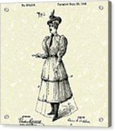 Dockham Bicycle Skirt 1896 Patent Art  Acrylic Print by Prior Art Design
