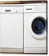 Domestic Dishwasher And Washing Machine Acrylic Print by Johnny Greig