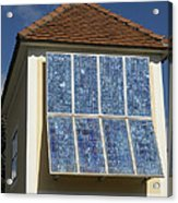 Domestic Solar Panel Acrylic Print by Friedrich Saurer