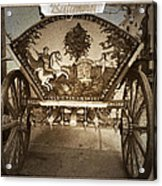 Donkey Cart Acrylic Print by Cliff  Norton