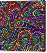 Doodle 3 Acrylic Print by Karen Elzinga