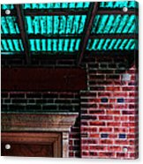 Door With Green Overhang Acrylic Print by HD Connelly