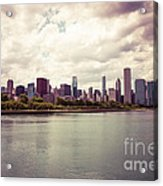 Downtown Chicago Skyline Lakefront Acrylic Print by Paul Velgos