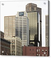 Downtown Office Buildings Acrylic Print by Roberto Westbrook