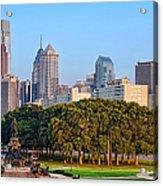 Downtown Philadelphia Skyline Acrylic Print by Olivier Le Queinec