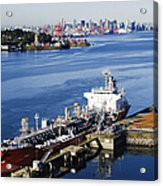 Downtown Vancouver Seen From Dockside Acrylic Print by Jeremy Woodhouse
