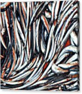 Dripping Fish Acrylic Print by Maria Luisa Corapi
