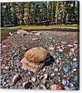 Dry Lake Acrylic Print by Bonnie Bruno