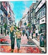 Dublin Grafton Street Acrylic Print by Yury Malkov