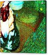 Duck And Caretaker Acrylic Print by YoMamaBird Rhonda