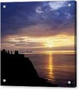 Dunluce Castle At Sunset, Co Antrim Acrylic Print by The Irish Image Collection
