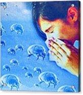 Dust Mite Allergy, Conceptual Artwork Acrylic Print by Hannah Gal