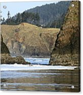Ecola From Chapman Pt. Acrylic Print by Steven A Bash