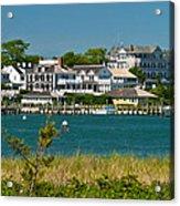 Edgartown Harbor Marthas Vineyard Massachusetts Acrylic Print by Michelle Wiarda