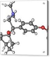Effexor Antidepressant Drug Molecule Acrylic Print by Laguna Design
