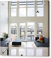 Efficiency Apartment Living Room Acrylic Print by Ben Sandall