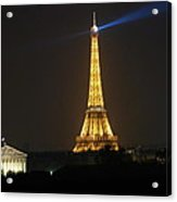 Eiffel Tower At Night Acrylic Print by Jennifer Ancker