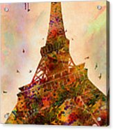 Eiffel Tower  Acrylic Print by Mark Ashkenazi