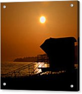 El Capitan Beach Sunset Acrylic Print by Joshua Benk