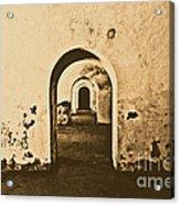 El Morro Fort Barracks Arched Doorways San Juan Puerto Rico Prints Rustic Acrylic Print by Shawn O'Brien