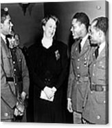 Eleanor Roosevelt Greets African Acrylic Print by Everett