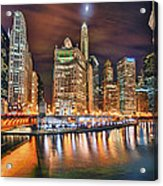 Electric City Acrylic Print by Joel Olives