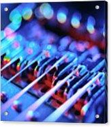 Electric Guitar Bridge Acrylic Print by Lawrence Lawry