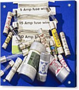 Electrical Fuses Acrylic Print by Andrew Lambert Photography