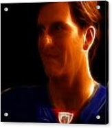 Eli Manning - New York Giants - Quarterback - Super Bowl Champion Acrylic Print by Lee Dos Santos