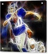 Eli Manning Quarterback Acrylic Print by Paul Ward