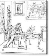 Emancipation Cartoon Acrylic Print by Granger