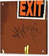 Emergency Exit Acrylic Print by Joe Jake Pratt
