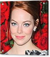 Emma Stone At Arrivals For Momas 4th Acrylic Print by Everett