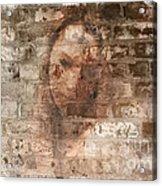 Emotions- Self Portrait Acrylic Print by Janie Johnson