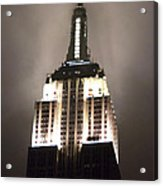 Empire State In The Fog Acrylic Print by Kelsey Horne