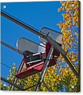 Empty Chair On Ferris Wheel Acrylic Print by Thom Gourley/Flatbread Images, LLC
