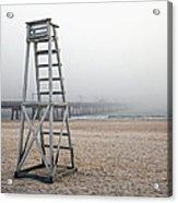 Empty Lifeguard Chair Acrylic Print by Skip Nall