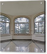 Empty Room In Turret With Windows Acrylic Print by Douglas Orton