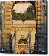 Empty Stone Bridge Acrylic Print by Jeremy Woodhouse