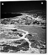 End Of The Main Road At White River Canyon Akamas Peninsula Republic Of Cyprus Europe Acrylic Print by Joe Fox