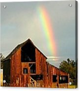 End Of The Rainbow Acrylic Print by Cindy Wright