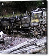 End Of The Trail Oregon Conestoga Wagon  Acrylic Print by Glenna McRae