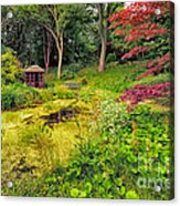 English Garden  Acrylic Print by Adrian Evans