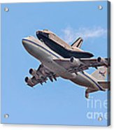 Enterprise Space Shuttle  Acrylic Print by Susan Candelario