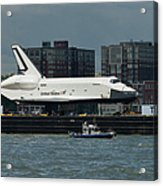Enterprise To Intrepid Acrylic Print by Gary Eason