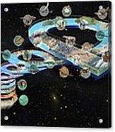 Evolution Of Life, Artwork Acrylic Print by Jose Antonio PeÑas
