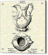 Ewer Or Jug Design 1900 Patent Art Acrylic Print by Prior Art Design