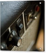 Extreme Close-up Angled Shot Of An Amplifier Acrylic Print by Christopher Kontoes