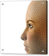 Facemapping, Artwork Acrylic Print by Claus Lunau