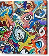 Faces In A Crowd Acrylic Print by Jame Hayes